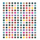 Plain multicolor round Big Sticker Kumkum Bindi for Women Stylish (Size 8mm,Pack of 180 Bindis) (R5)