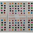 Roop Nikhar Indian Style Smallest Size Rare Collection Colored Bindi Combo Set of 6 Pcs (R6)