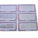 Lady Fashion Round Size Stone Bindi (Golden Silver and Multicolour) - Pack of 6 (R11)