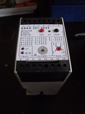 Onan 307-2843 (307-3003-02) Ground Fault Relay  NEW