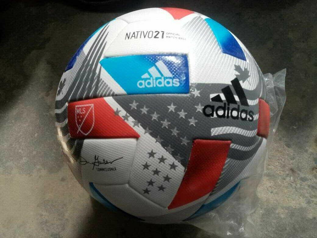 Adidas NATIVO MLS 2021 Soccer Match Ball Size 5 Football Thermal bonded Free Shipping