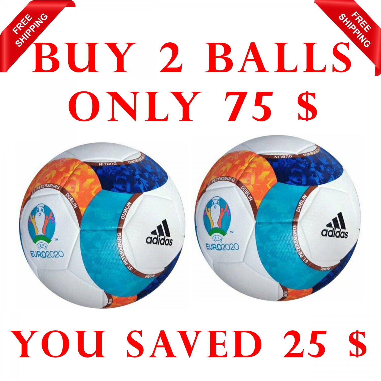 Sale Buy 2 ADIDAS EURO UEFA CHAMPIONS LEAGUE 2020 SOCCER MATCH BALL Size 5