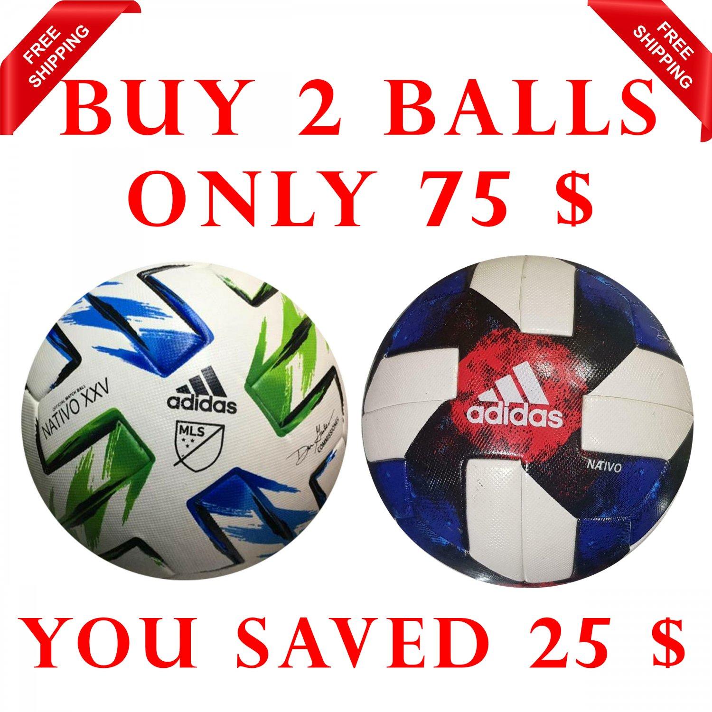Sale Buy 2 ADIDAS NATIVO XXV MLS & MLS- NATIVO QUESTRA 2019 SOCCER MATCH BALL 5