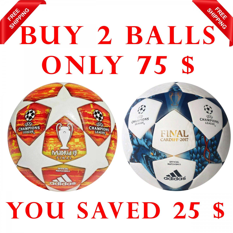 Sale Buy 2 Adidas Final Madrid 2019 & FINALE CARDIFF 2017 UEFA Champions League SOCCER MATCH BALL 5