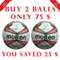 Sale Buy 2 Molten Match Ball �Soccer Football Size 5, Thermal Bonded