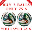 Sale Buy 2 ADIDAS BRAZUCA FOOTBALL WORLD CUP 2014 SOCCER MATCH BALL 5