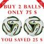 Sale Buy 2 ADIDAS BRAZUCA FINAL RIO FOOTBALL WORLD CUP 2014 SOCCER MATCH BALL 5