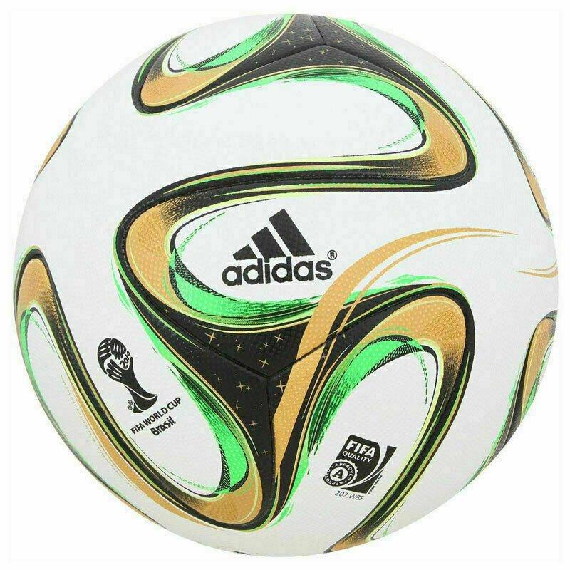 ADIDAS BRAZUCA FINAL RIO FOOTBALL WORLD CUP 2014 SOCCER MATCH BALL 5 Free Shipping