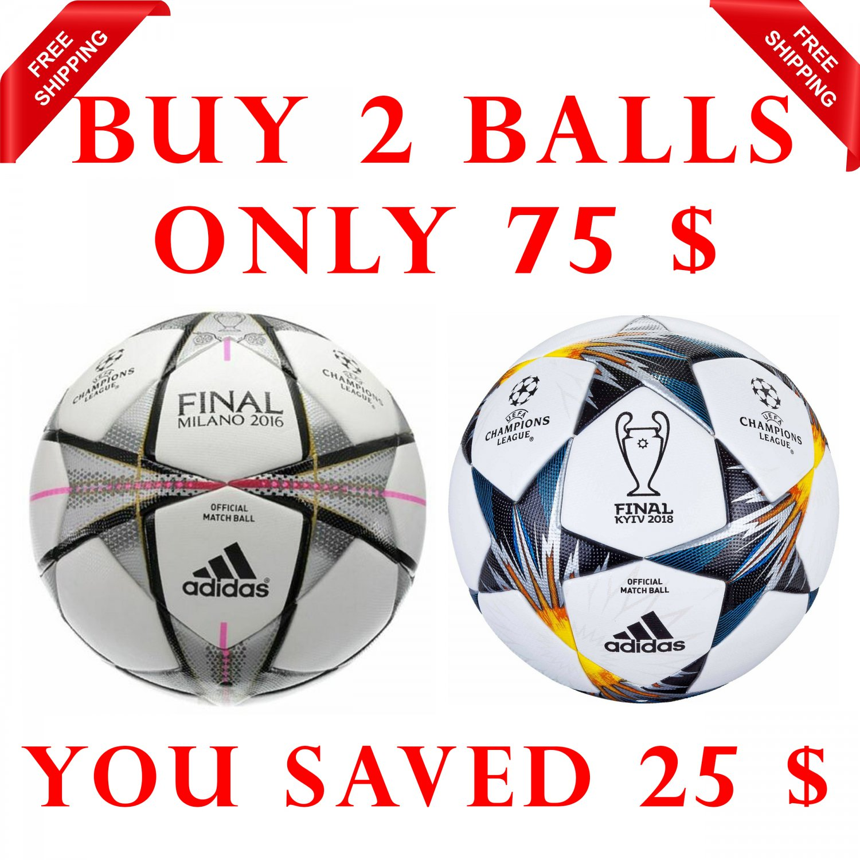 Sale Buy 2 Adidas UEFA Champions League Finale Kyiv 2018 & FINAL MILANO 2016 SOCCER MATCH BALL 5