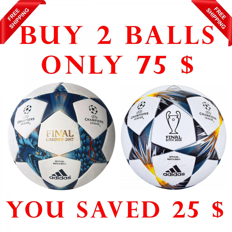 Sale Buy 2 Adidas UEFA CHAMPIONS LEAGUE FINALE CARDIFF 2017 & Finale Kyiv 2018 SOCCER MATCH BALL 5