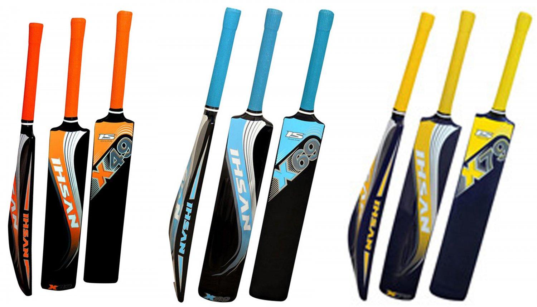 Cricket Bat Ihsan Fiber Composite Bat X-49, X-69, X-79 Best for Tennis & Tape Ball Game