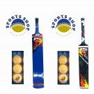 CRICKET wooden BAT Soft Ball Tennis Tape Ball IHSAN MASTER BAT + 3 X99 BALLS