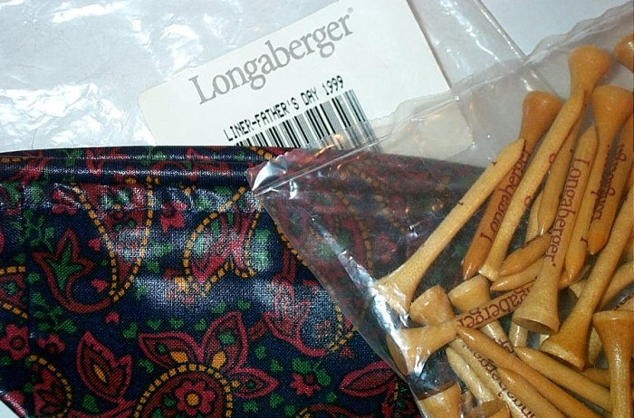 Retireed Longaberger 1999 Fathers Day Basket Liner