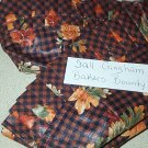 Retired Longaberger Fall Gingham Bakers Bounty Liner