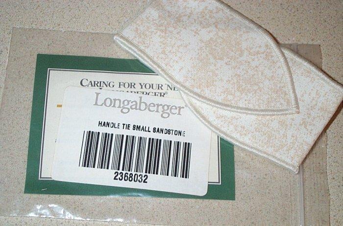 Retired Longaberger Small Sandstone Handle Tie