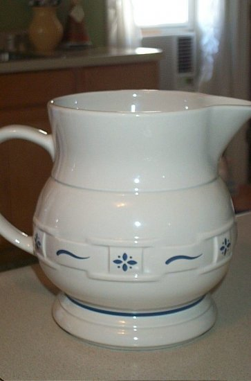Longaberger Pottery Classic Blue Large Pitcher