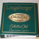 Retired Longaberger 5 Year Membership Lapel Pin