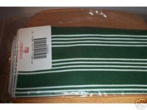 New Longaberger Set Of 2 Green Stripe Napkins