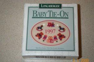Retired Longaberger 1997 Baby Tie On