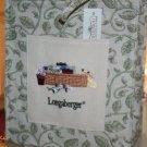 Longaberger Retired Garden Vine Embroidered Tote Bag