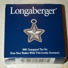 Retired Longaberger 2001 Inaugural Star Tie On