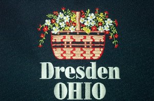 Longaberger Embroidered Dresden Ohio Tote Bag