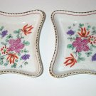 2 Victoria Czechoslovokia Porcelain Dishes With Flowers