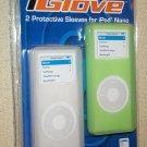 2 Green White Iglove Apple Nano Case Skin Cover Sleeves