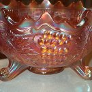 Fenton Grape & Cable Persian Medallion Carnival Bowl