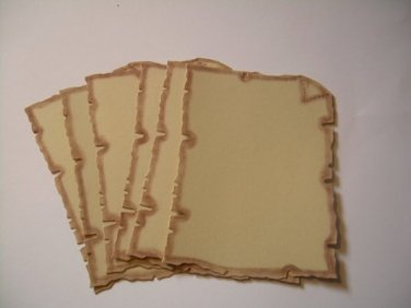 10 Parchment Die Cut Frames for Scrapbooking, cards, invitation , journaling