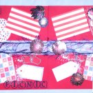 "Pre-made Scrapbook pages 4th of July Holiday ""CHQD"""