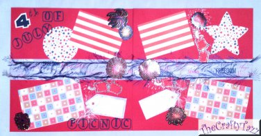 """Pre-made Scrapbook pages 4th of July Holiday """"CHQD"""""""