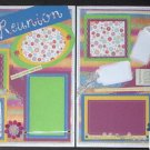 "CREATIVE PAPER PIERCING PREMADE SCRAPBOOK PAGES  ""FAMILY REUNION"" CHQD"