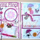 "Premade scrapbook 12x12 pages ""Spring Fling"" layout"