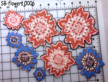Hand made flowers for scrapbooking SB-F-0006