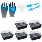Garden starter kit - 5 Seed trays + Labels + Garden Tools