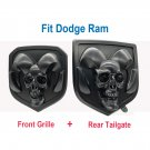 Matte black head Emblem Medallion fits Dodge Ram 1500 2500 3500 13-18 Tailgate + Grille