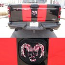 Blood skull Tailgate head Emblem Medallion Satin fits Dodge RAM 2019-2020 1500 2500 3500