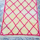 Authentic morrocan handwoven beni ouarain pink rug, area wool soft carpet