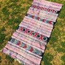 authetic pink berber wool carpet morrocan runner rug 5.97 X 2.55 ft.