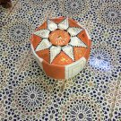 Pouf Handmade Moroccan Hassock Pooff Leather Pouff Ottoman Footstool Genuine