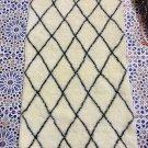 Moroccan Beni Ourain rug Wool Berber handmade soft shaggy carpet4.10x2.29
