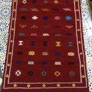 Area rug kilim Morrocan rug 4.79x3.14 feet Hand Woven ,berber rug azilal rug Gift