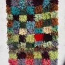 Moroccan Rug Handmade Boucherouite Kilim Old Tribal Carpet Azilal shaggy rug