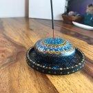 Incense holder & coaster ( gold & blue)