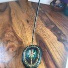 Incense holder (gold & green)