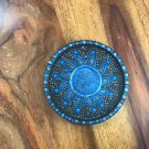 Funky coaster (silver & blue)