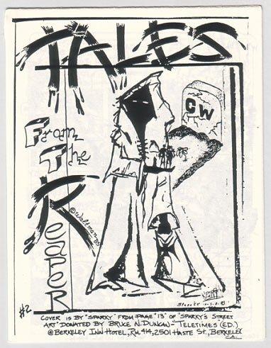 TALES FROM THE REAPER #2 mini-comic JAMES WALTMAN 1984