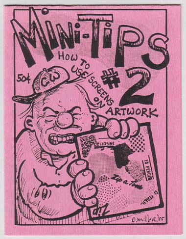 MINI-TIPS #2 mini-comic DAVID MILLER art tips 1985 comix