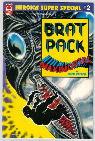 BRATPACK MAXIMORTAL SUPER SPECIAL #2 Rick Veitch 1997 King Hell